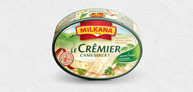 Milkana / Милкана Камамбер Ле Кремье с душистыми травами,  125 г