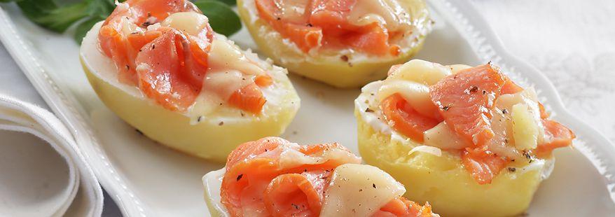 Картофель-гратен с семгой и сыром Фоль Эпи