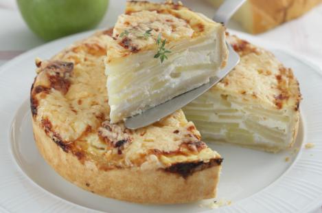 Пряный яблочный пирог с сыром Фоль Эпи